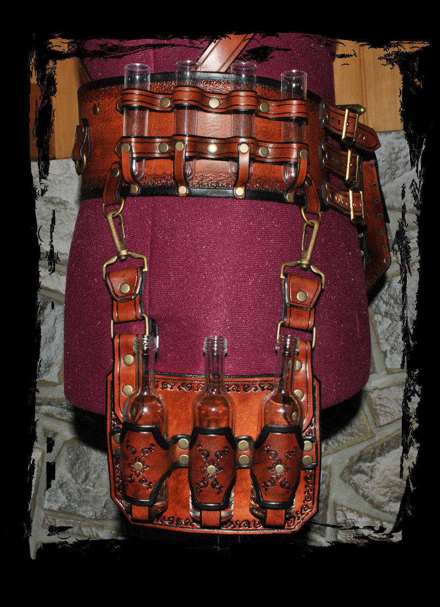 Steampunk leather belt utility by lagueuse on deviantart - Steampunk bett ...