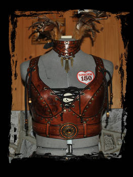leather armor bra front view
