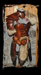 barbarian female leather armor by Lagueuse