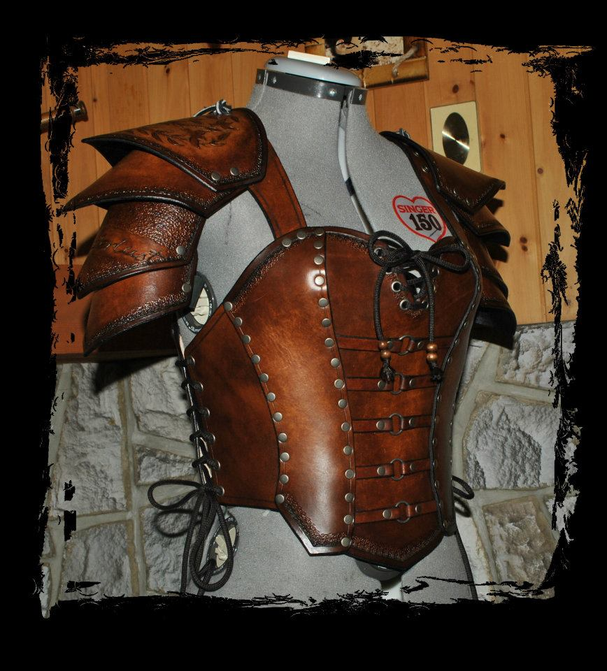 how to draw leather armor