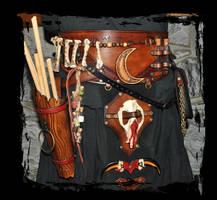 leather belt shaman by Lagueuse