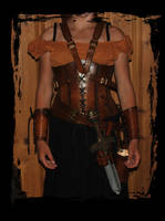 archer leather outfit by Lagueuse