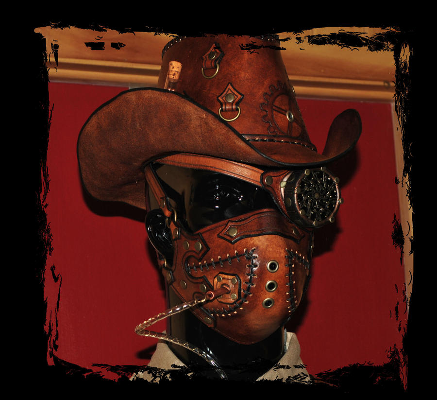 steampunk cowboy headgear by Lagueuse