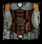 steampunk leather corset