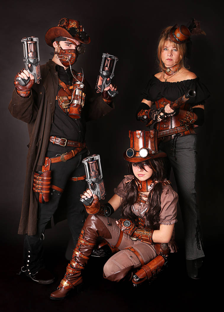 steampunk familly by Lagueuse