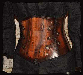 armor leather corset bark