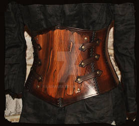 armor leather corset bark