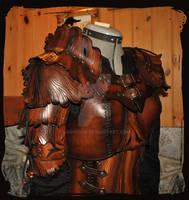 wood elf leather armor woman