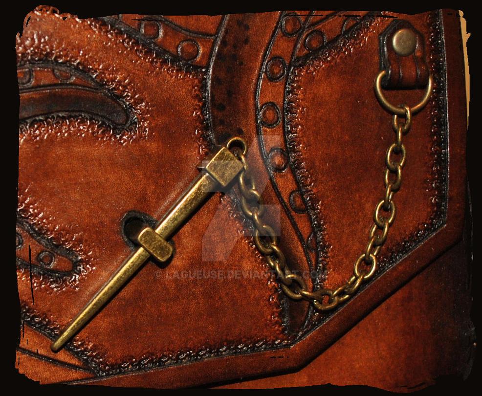 Shoulder Bag Octopus closeup by Lagueuse