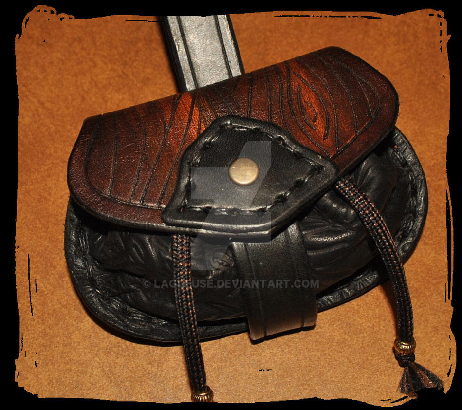 leather belt pouch for larp by lagueuse on deviantart