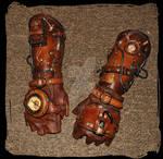 leather bracers Steampunk