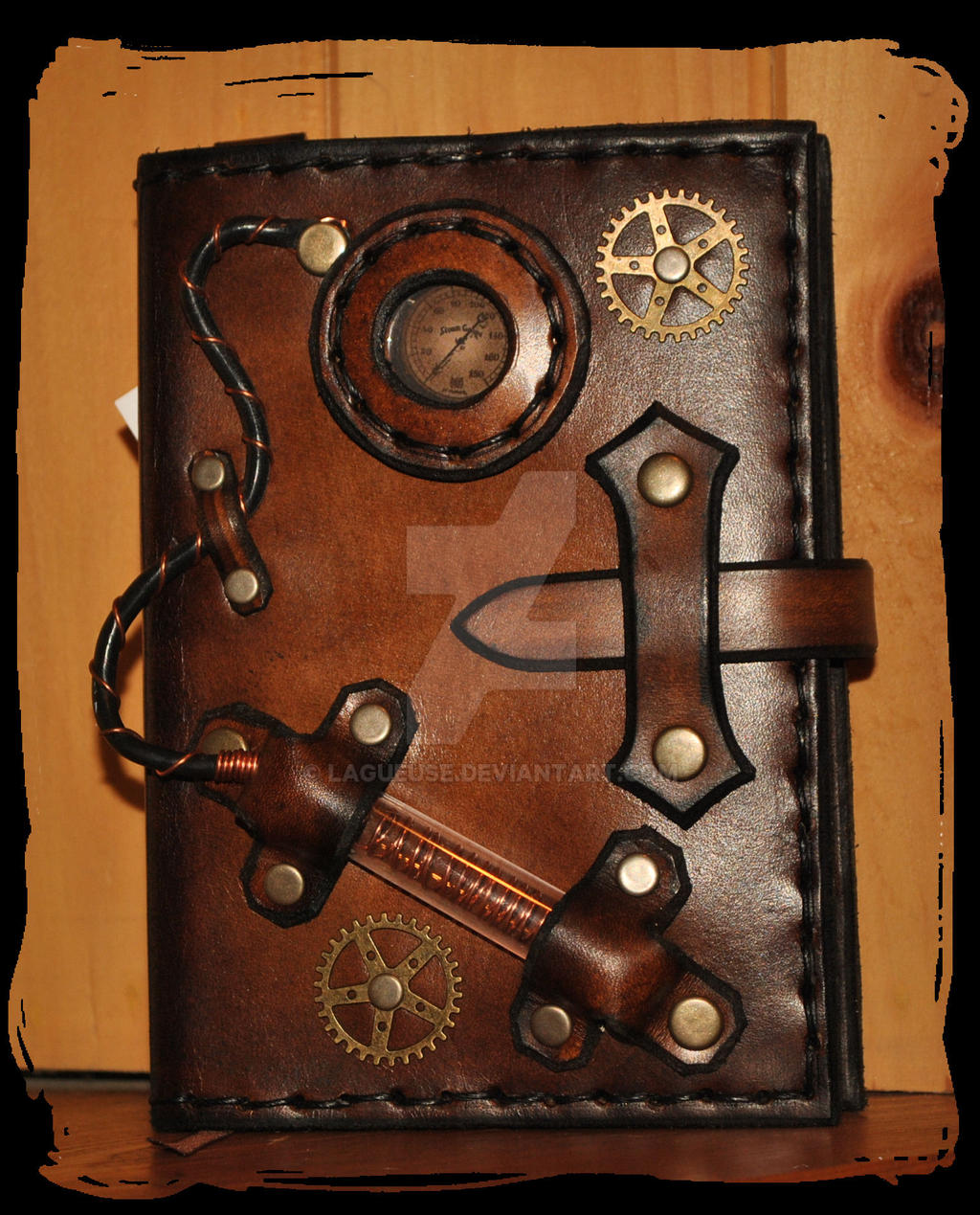 How To Make A Digital Book Cover : Steampunk note book leather cover by lagueuse on deviantart