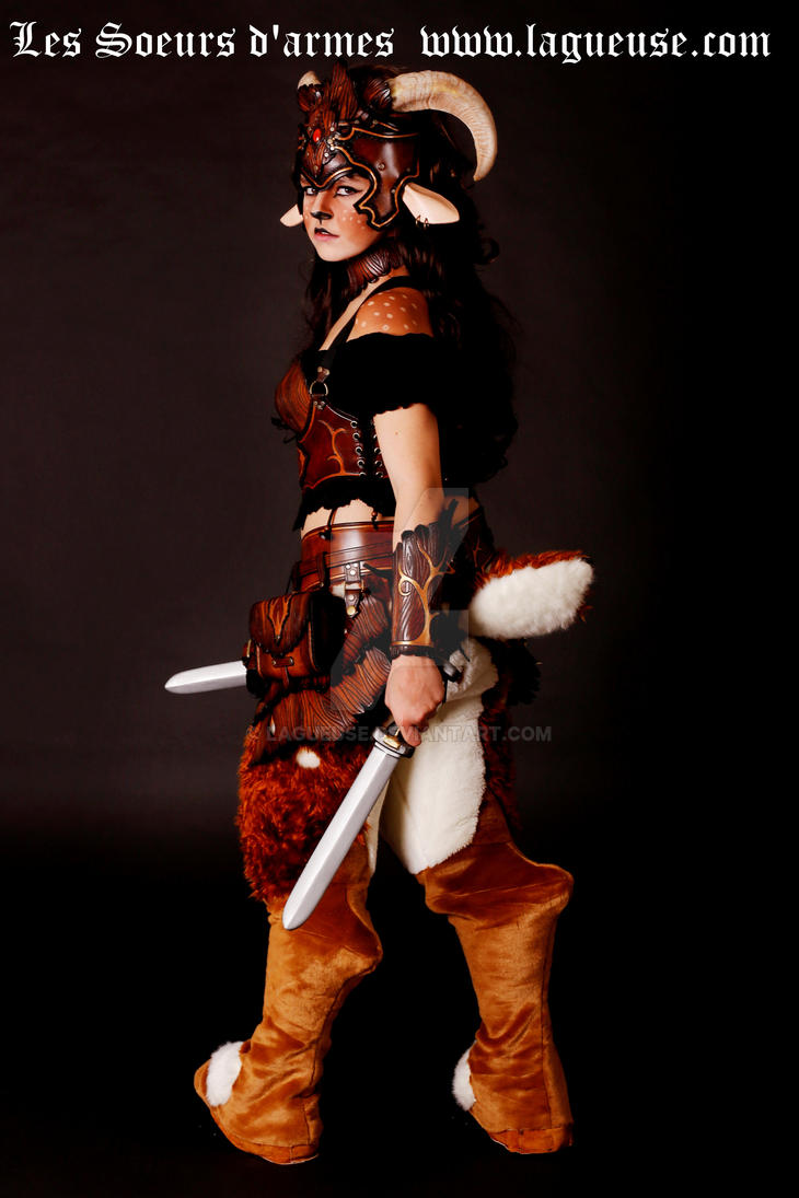 battle faun leather outfit back view by Lagueuse on DeviantArt