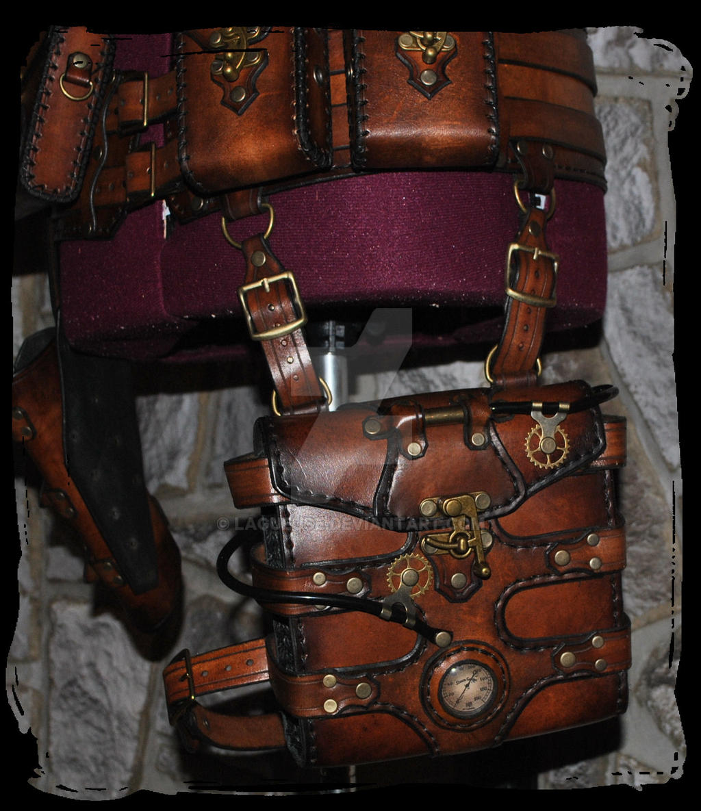 Steampunk Leather Utility Belt By Lagueuse On Deviantart