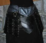 leather armor belt assy