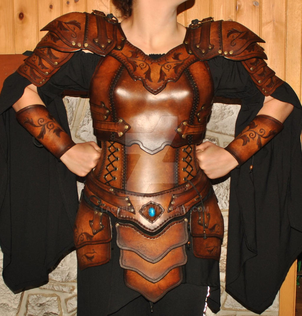 Women Leather Armor Armure Cuir Femme By Lagueuse On