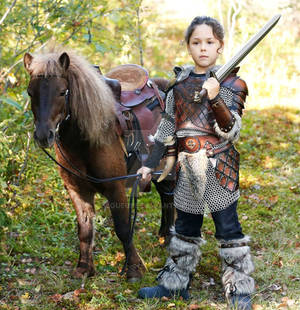 kid leather armor viking