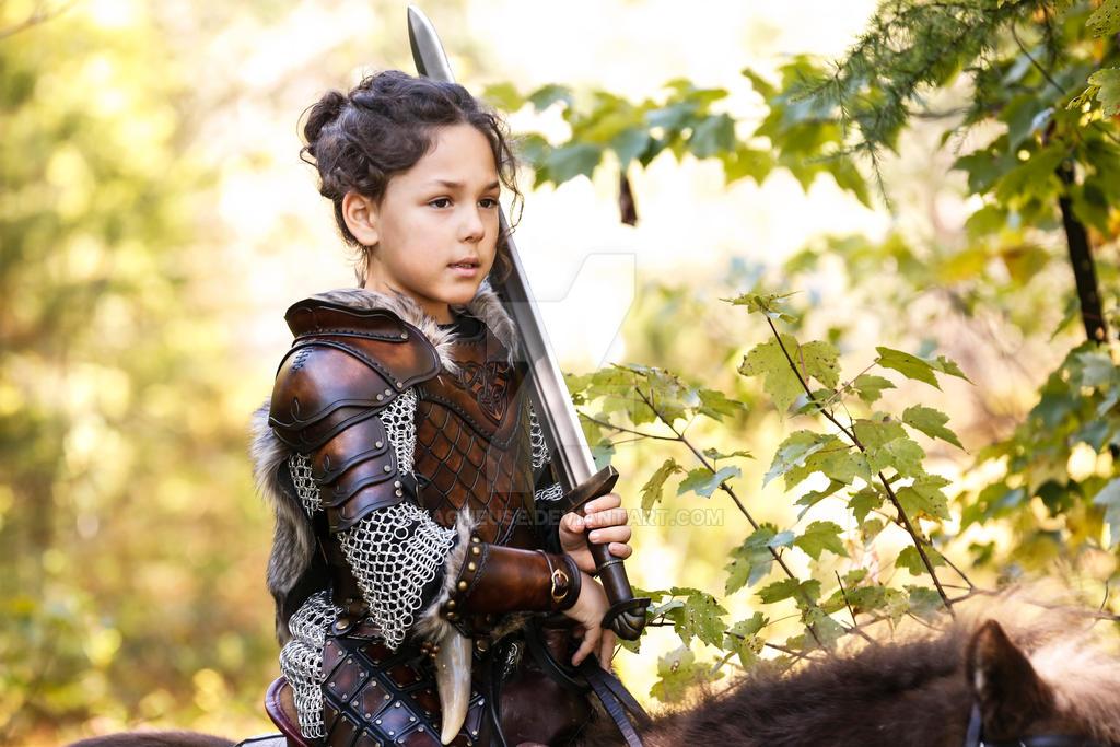 Image of Viking girl warrior
