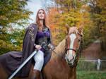 women leather LARP warrior armor accessories
