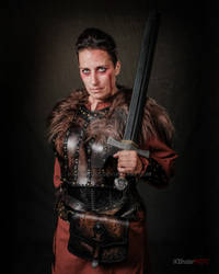 Shieldmaiden leather armor vikings cosplay