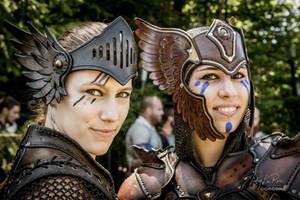 Valkyrie leather armor tiara