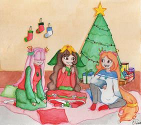 :SSG Secret Santa: Christmas sleepover by Eduardathewolf