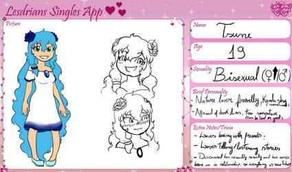 Tsune's lesdrians single app by Eduardathewolf