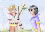 Fairy Roxas and Xion by NormaLeeInsane