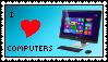 (STAMP) I Love Computers by TechnoPonyWardrobeDA