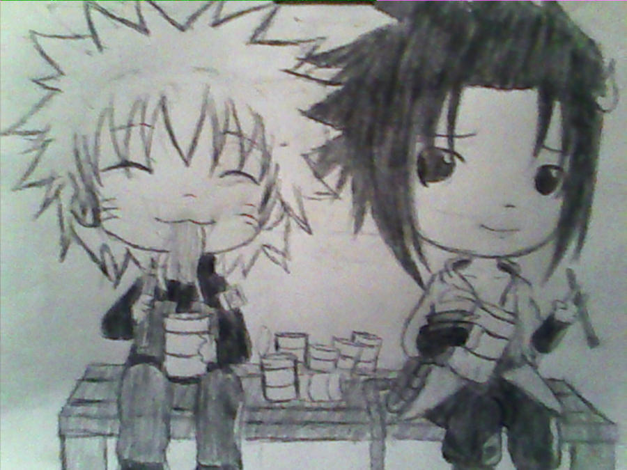 naruto and sasuke chibi. Chibi Naruto and Sasuke by