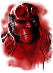 Hellboy close up