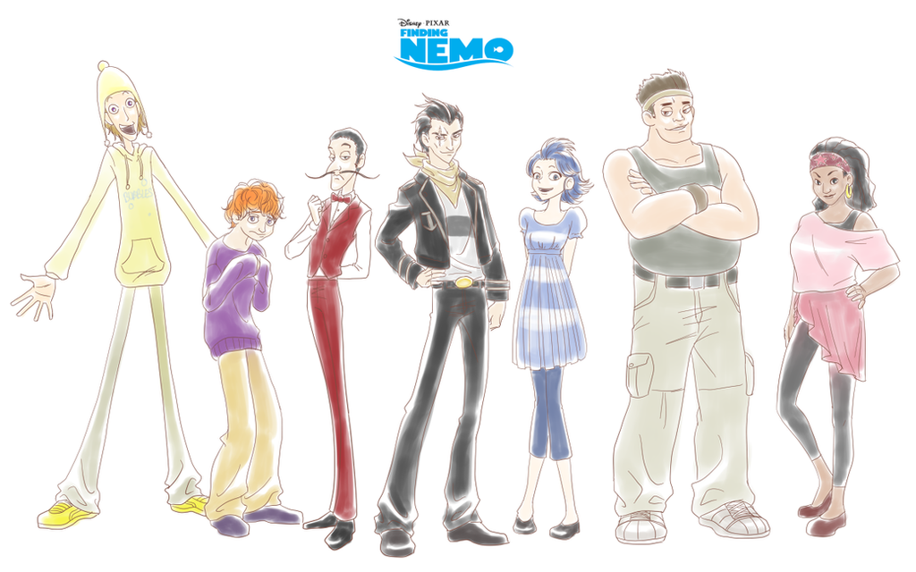 Humanized Finding Nemo Characters By Lizbomb On DeviantArt