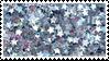 glitter star stamp