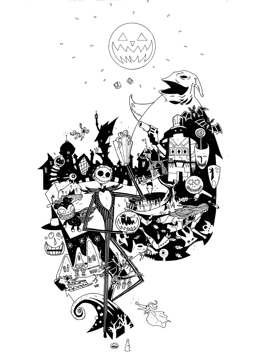 Character Design Nightmare Before Christmas : The nightmare before christmas t shirt design by future