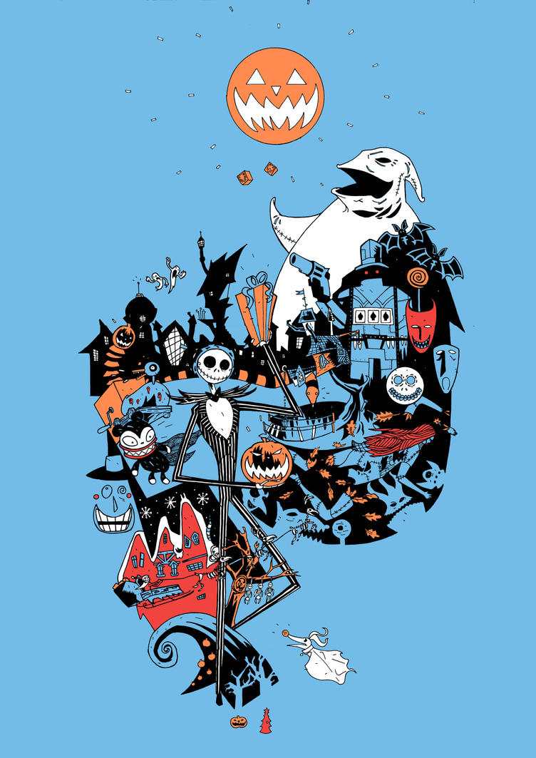 Nightmare Before Christmas T Shirt Design Colours By