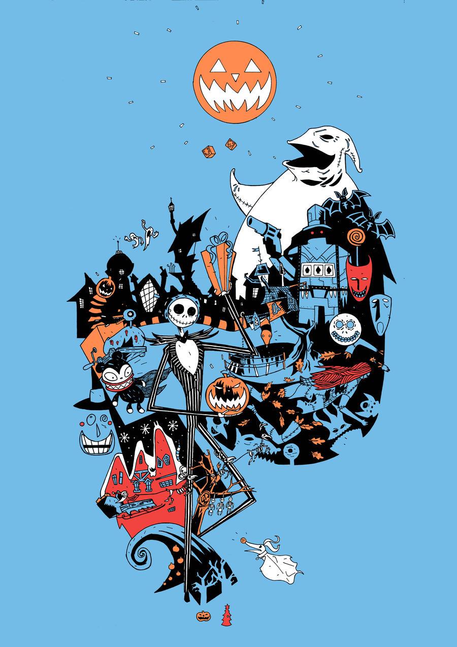 Nightmare Before Christmas Illustration.Comics Forever The Nightmare Before Christmas Artwork