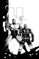 DREDD AND ROBOCOP INKS