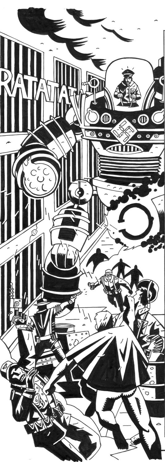 Action Johnson PG1 ink by future-parker