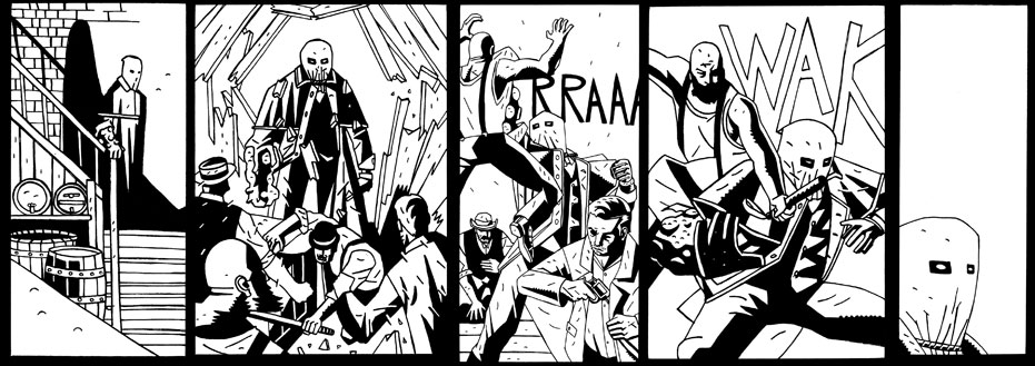 MERRICK #3 inks preview by future-parker