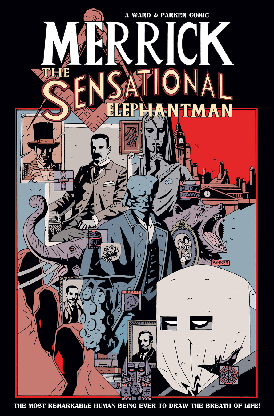 MERRICK THE SENSATIONAL ELEPHANTMAN TRADE COVER by future-parker