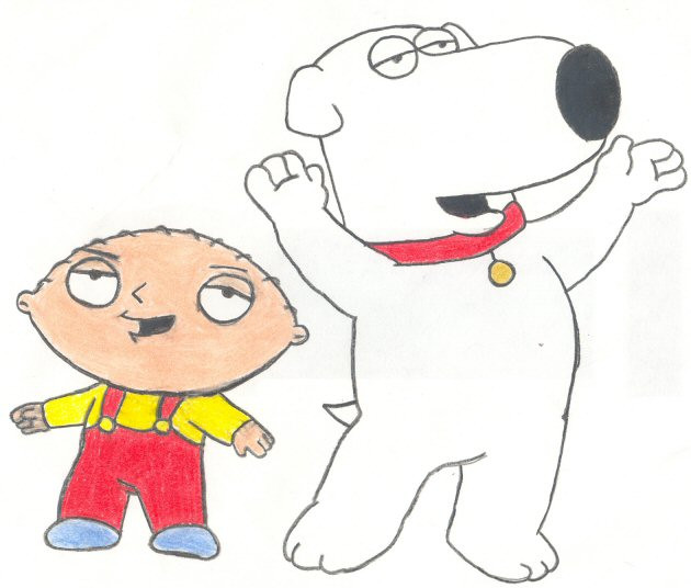 Stewie and Brian by candycane755