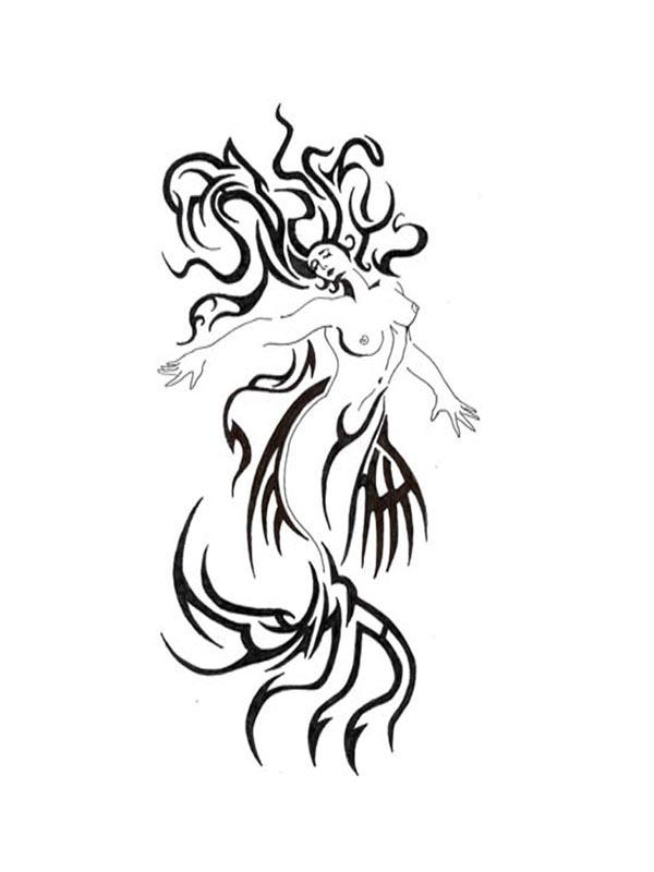 The gallery for --> Tribal Mermaid Tattoo