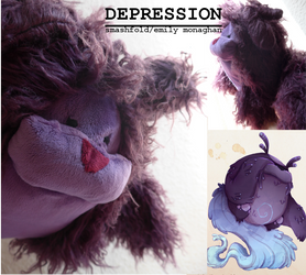 Depression: the Real Monster plushie!