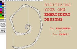Digitize your own FREE Embroidery Designs how-to