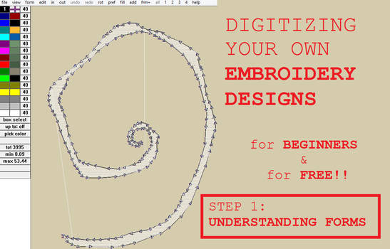 Digitizing free Embroidery designs: Step 1
