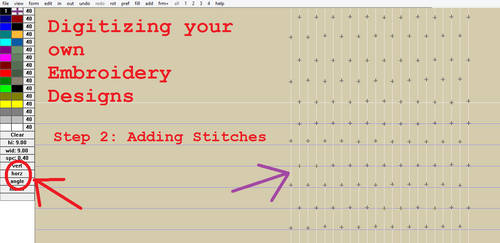 Digitizing your own Embroidery Designs: Step 2!
