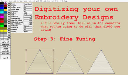 Digitizing your own Embroidery Designs: Step 3!