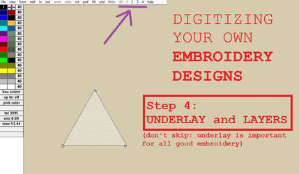 Digitizing your own Embroidery Designs: Step 4!