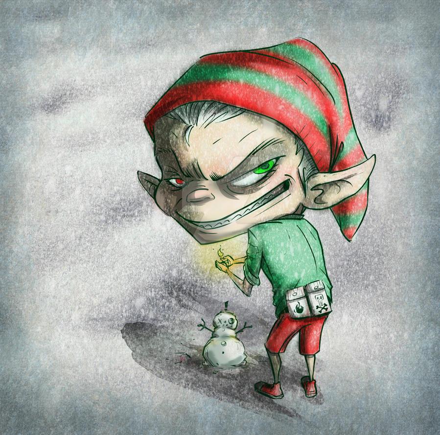 Image Result For Santa With Elves