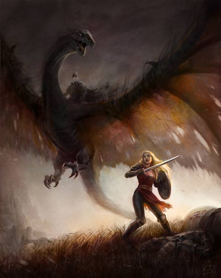 Eowyn and the Nazgul by depingo